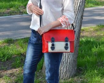 LEATHER SATCHEL WOMAN, Leather Satchel Bag, Woman Laptop Bag, Leather Laptop Messenger, Red Leather Laptop Bag