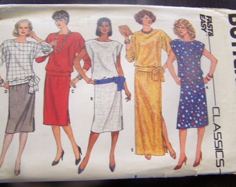 Butterick 3090, UNCUT sewing pattern, size 8-12, misses, womens, craft, supplies, skirt, top