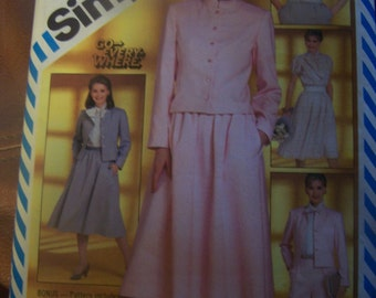 Simplicity 5834, size 12, misses, womens, pants, skirt, blouse, jacket, top, UNCUT sewing pattern, craft supplies