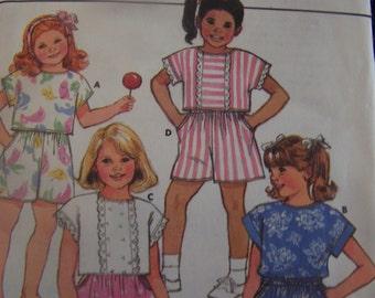 Butterick 3844, childrens size 2-4, girls UNCUT sewing pattern, culottes, skirt, top, craft supplies