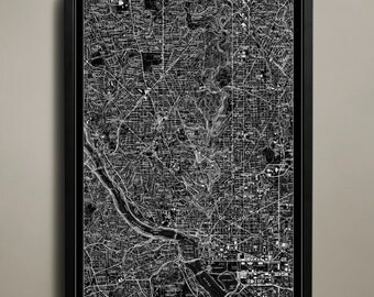 WASHINGTON DC Map Print Poster