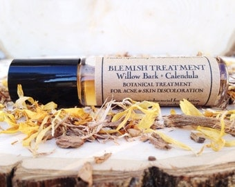 Blemish Treatment •  Willow Bark + Calendula • Botanical Treatment for Acne & Skin Discoloration