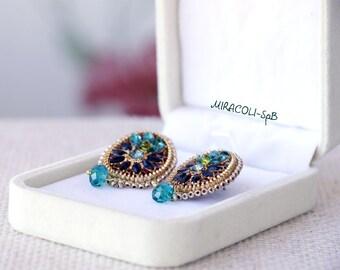 Green zipper post earrings. Leather earrings.Evening  earrings.Green earrings.Trending  earrings. Recycled earrings.Fashion earrings.