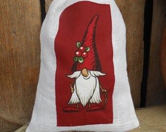 Scandinavian Christmas Gift Bag Santa Sack Swedish Christmas Finland Christmas Sack Gnome Elf Tomte Gift Wrap Christmas Bag Christmas Decor