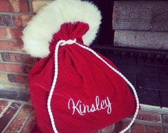 Personalized Santa Christmas Bag