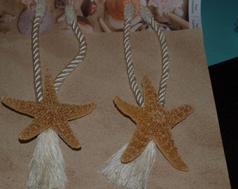 Sugar Starfish Curtain Tie Backs Set Of (2)