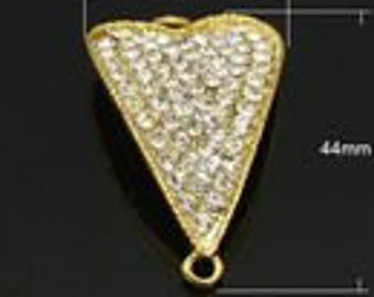 Heart Link Rhinestone 44*25mm