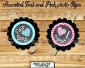Photo clip holder First year photo clips Month photo banner first birthday photo banner monthly banner first year banner chalkboard hearts