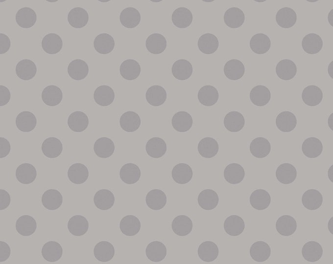 One Yard Medium Dots - Tone on Tone in Gray - Cotton Quilt Fabric - C430-40 - RBD Designers for Riley Blake Designs (W2237)
