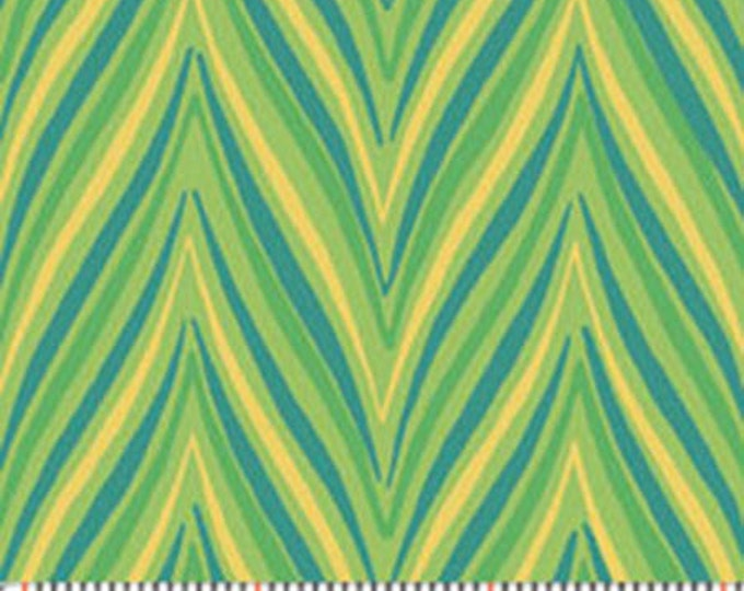 One Yard Dori - Mod Flame in Lime Green - Contemporary Cotton Quilt Fabrics - by Mitzi Powers for Benartex Fabrics - 1239-44 (W2370)