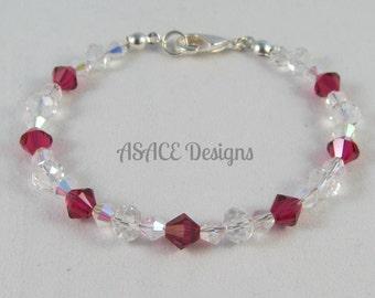 Handmade Ruby July Birthstone Bracelet