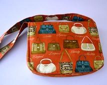 Sale - Fabric bag / Bag with orgaizer/ Messenger fabric bag and organizer/ Handmade Bag/organizer insert bag