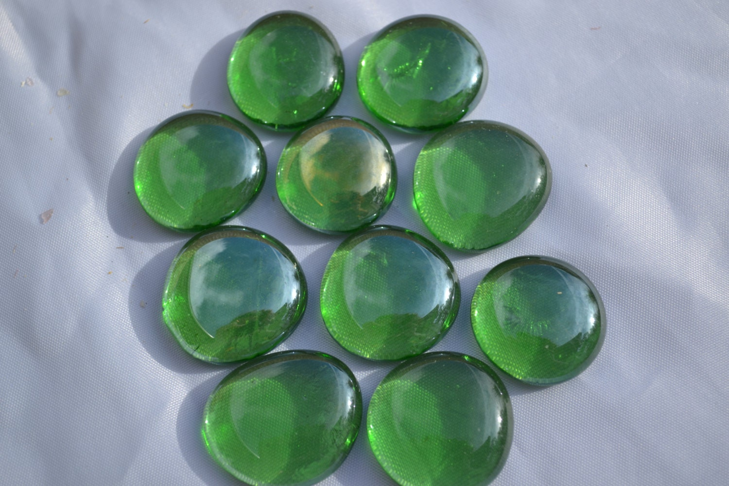 10 pieces large green flat glass marbles. Black Bedroom Furniture Sets. Home Design Ideas