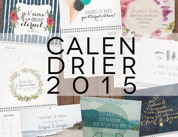 Calendrier mural 2015 verset biblique 85 x 11 by letheavencome for Calendrier mural 2015