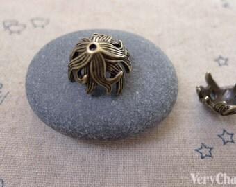 20 pcs of Antique Bronze Filigree Bead Caps 10x15mm A7421