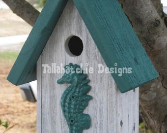 Reclaimed Birdhouse, Birdhouses, Nautical Birdhouse, Beach Birdhouse, Primitive Birdhouse, Rustic Birdhouse, Bird House, Bird Houses