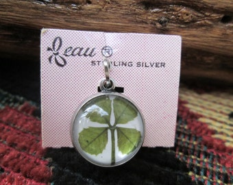 Vintage Beau Sterling Fourleaf Clover Lucky Charm