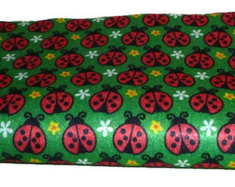 Printed felt sheets, supplies, lady bug fabric, red and green, material, girl crafts, feutre tissu, kid craft felt, printed fabric, 4 piece