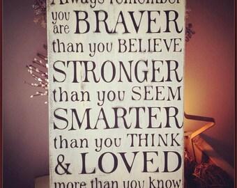 You Are Braver.....