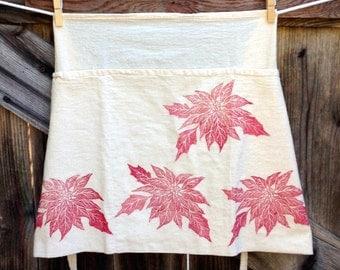 Poinsettia Flour Sack Apron