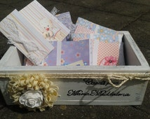 Personalized Wedding Wood Card Box Shabby Chic Custom