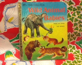 "Vintage Little Golden Book- ""Wild Animal Babies!""- 1972"