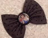 Zombie Snow White Disney Princess Fabric Hair Bow Gift Accessory