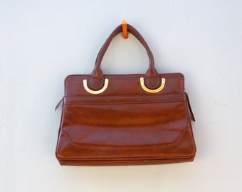 Its In the Bag! Vintage Handbag~CLEARANCE~ Flat Rate Shipping [Retro Brown Womens Purse]