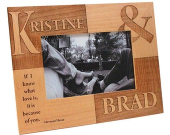 Custom Personalized Picture Frame 5 x 7