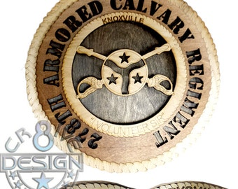 278th Armoured Calvary Regiment (ACR) 10.5 inch laser cut plaque, Tennessee National Guard,Knoxville,Military