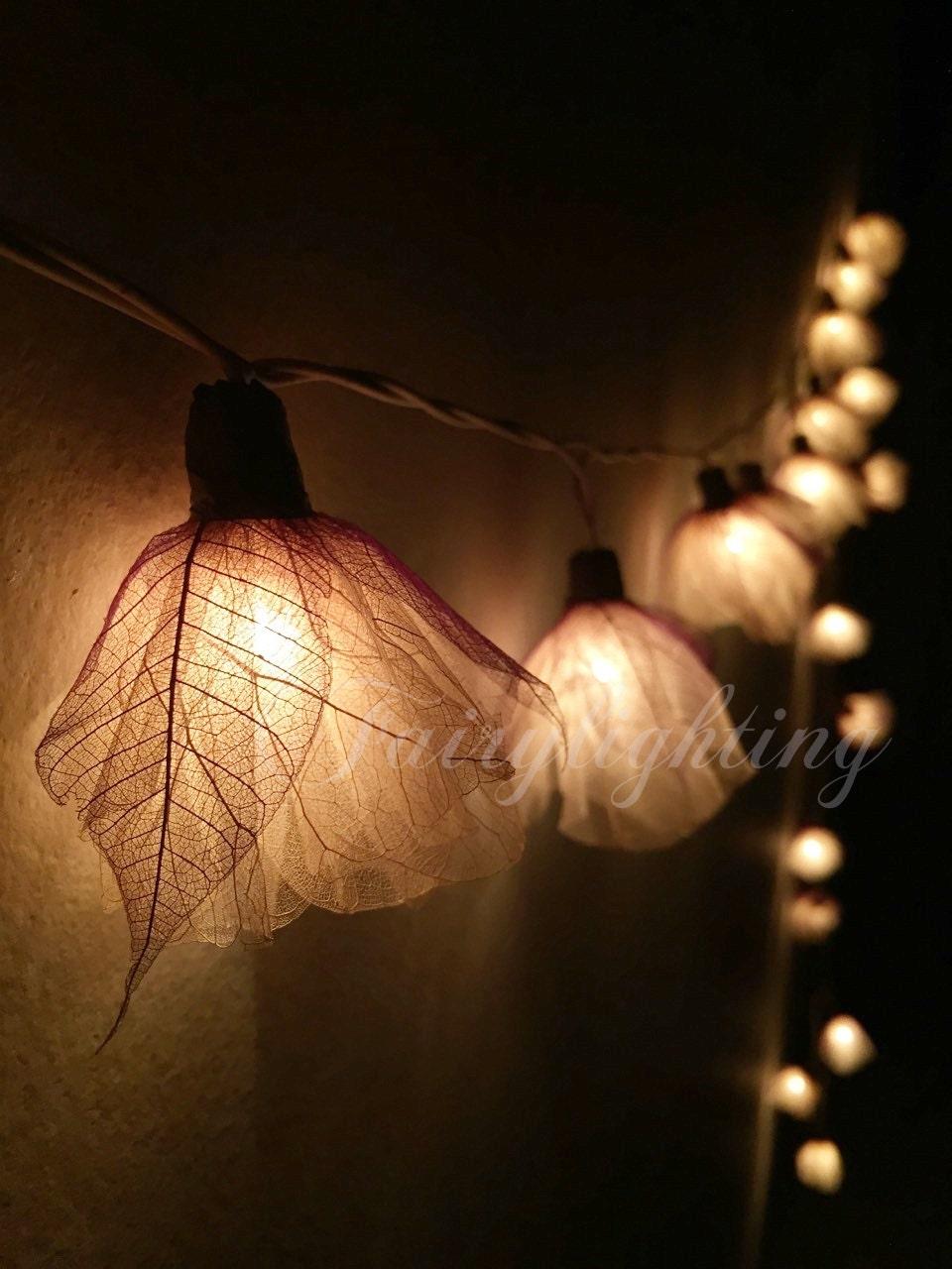 Fairy string lights 20 White Carnation Flower by fairylighting