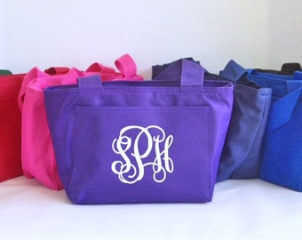 Insulated Lunch Bag - Monogram Lunch Tote - Personalized Lunch Bag - Back to School - Insulated Lunch Box - Stocking Stuffer - Teacher Gift