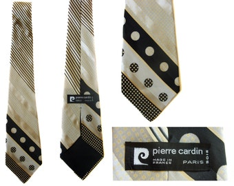 Vintage neck tie Pierre Cardin Paris pure silk neck tie made in France