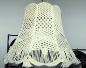 Macrame Lamp Shade Scalloped Edge / Vintage Decor Retro Look Great Art Handmade
