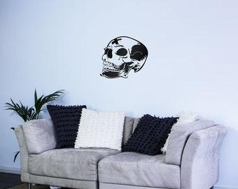 Skull Marked Vinyl Wall Art Decal