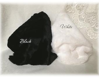 Italian VISCOSE Plush Fabric White/ Black/ White+Black Colour 8-9 mm pile 1/8 metre or more teddy bear making supplies