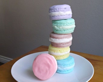 Macaroon Soap - French Macaron, Dessert Soap, Mothers Day Gift, Gift for Teacher Appreciation, Bridesmaid Gift - Set of 2