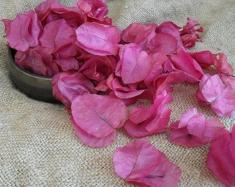 BULK DISCOUNT AVAILABLE Real petal confetti, hand picked and dried bougainvillia for favors or table sprinkles