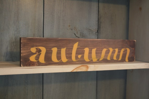 Autumn Wooden Sign Rustic Fall