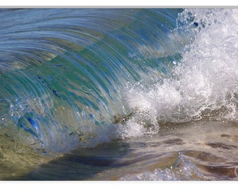 Abstract Water Photography, Sea Water Prints, Beach photos, Clear Water Photography, Clear Sea Green, Little Waves, Ocean Photos