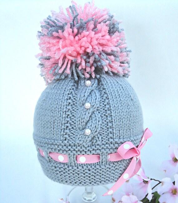 Knitting Pattern Baby Hat Baby Beanie Knit Pattern Infant Baby Girl Pattern K...