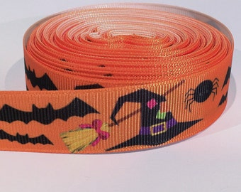 "5 yards of 7/8 inch ""Halloween"" grosgrain ribbon"