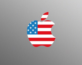 American USA Flag Decal Laptop Sticker for Apple MacBook / Pro / Air
