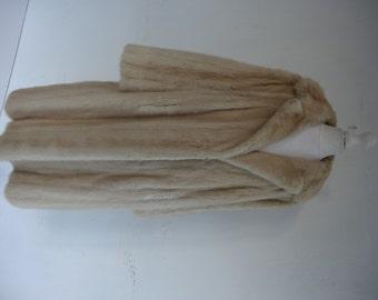 50's Full Length Pearl Mink Coat.