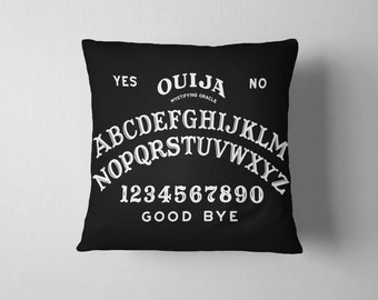Ouija Pillow With Insert - Ouija Print Pillow - Ouija Board Throw Pillow - 18x18