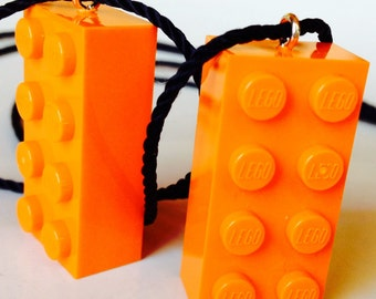 Orange LEGO Necklace Party Favor Teacher Reward Prize Gift