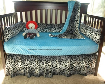 Snow Leopard Crib Bedding Set