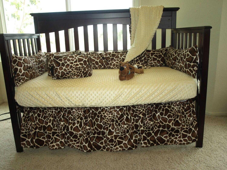Giraffe Baby Crib Bedding Set By SewCustomCorporation On Etsy