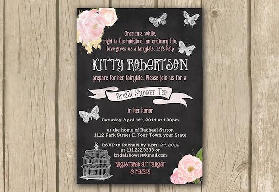 Fairytale Invitations Wedding: Bridal Shower Invitation Fairy Tale By DulceGracePrintables