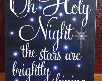 Unique oh holy night related items etsy for O holy night decorations